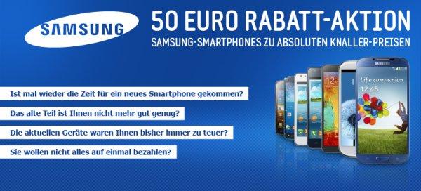 50€ Rabatt auf Samsung Smartphones!!! Bsp: Galaxy S3 mini für 129€