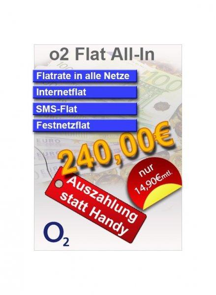 Allnet-Flat, Internet 500MB und SMS-Flat Allnet für 14,99€ im Monat