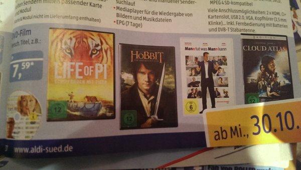 @aldi Süd - Life of Pi und weitere (nur DVD) - ab 30.10