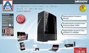 """Lokal Bochum"" ALDI Medion NAS MD86942 mit 2000 GB Festplatte"