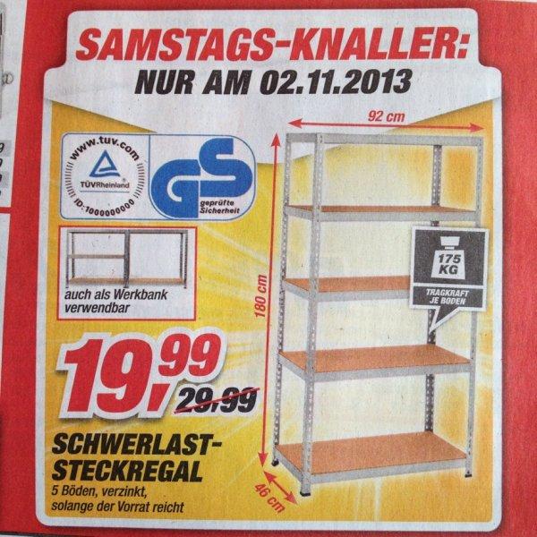 am 02.11.2013 im Toom Baumarkt - Schwerlast-Steckregal für 19,99€ (mal wieder ;)