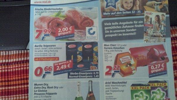 [Real] ab 28.10 -Barilla Nudeln 500g ab 3 Pakete je 0,66€