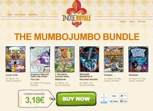 "[Steam] [Indie Royale]""The Mumbo Jumbo Bundle "" Haunted Houdini, 7 Wonders: Ancient Alien Makeover, Glowfish, Pickers, Angelica Weaver: Catch Me When You Can ,Luxor 2 HD"
