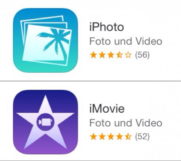 [Kostenlos statt 4,49€] Nun auch iPhoto & iMovie