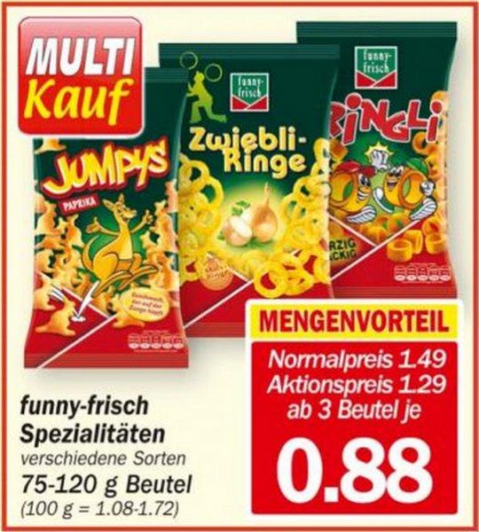 Hit Markt - Funny Frisch Spezialitäten- Multi Kauf  3x Beutel für 2,64€ /Einzelpreis 0.88€