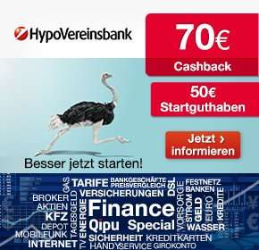 Qipu-Deal (wieder da): 70€ für Kontoeröffnung bei der HypoVereinsbank plus 50€ Startguthaben (Bedingungen im Deal-Text).