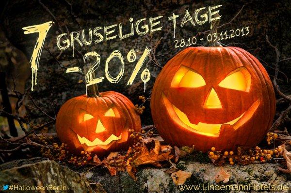 Berlin -20% bei den Lindemann Hotels zu Halloween