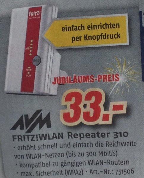 [bundesweit] [Medimax] FRITZ!WLAN Repeater 310 für 33,- Euro