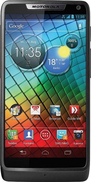 Motorola RAZR i schwarz ohne Simlock 8GB Neu bei ebay