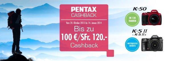 Pentax Cashback-Aktion Winter 2013, bis zu 100€ / 120SFr zurück