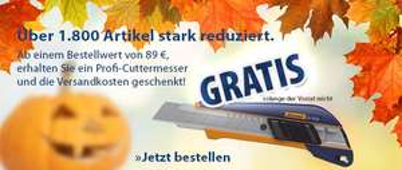 Gratis Teppichmesser ab 89 Euro MBW @ Hoffmann Tools
