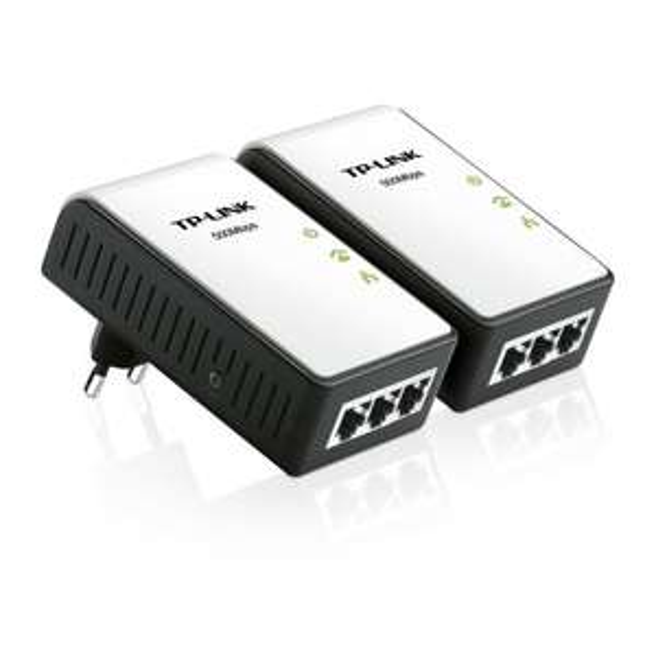 [Amazon Blitzangebot] TP-Link TL-PA4030KIT AV500 Mini Powerline Kit mit 3 Ethernet Ports
