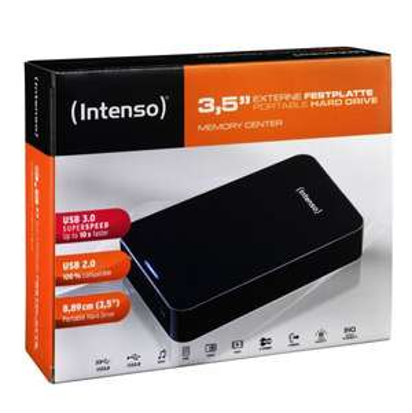 Intenso Memory Center 3 TB externe Festplatte (8,9 cm (3,5 Zoll), 5400rpm, 8MB Cache, USB 3.0) schwarz @amazon 85,00€