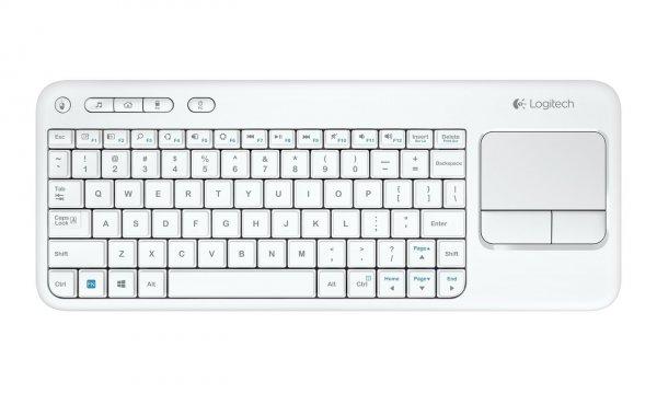 Logitech K400 schnurlos Tastatur in Weiß bei Amazon