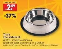 Für Hundefreunde: Edelstahlnapf auf 2,49€ reduziert