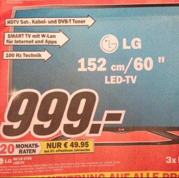 Lokal Media Markt Hamburg LG 60 für 999