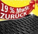 19% Cashback Aktion bei Microsoft @Online