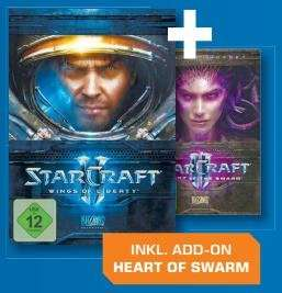 Starcraft II Wings of Liberty & Starcraft II Heart of Swarm für zusammen 39€ @Saturn