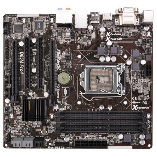 Spucha-Konstrukt - Mainboard µATX - Asrock B85M B85 Pro4 Sockel 1150 mATX 4xDDR3 Intelchipset für Netzwerk @getgoods