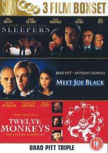 Brad Pitt  - 3 Filme Box Set (Sleepers / Rendezvous mit Joe Black / Twelve Monkeys) 3 DVDs -  6,74€ @ Zavvi.com