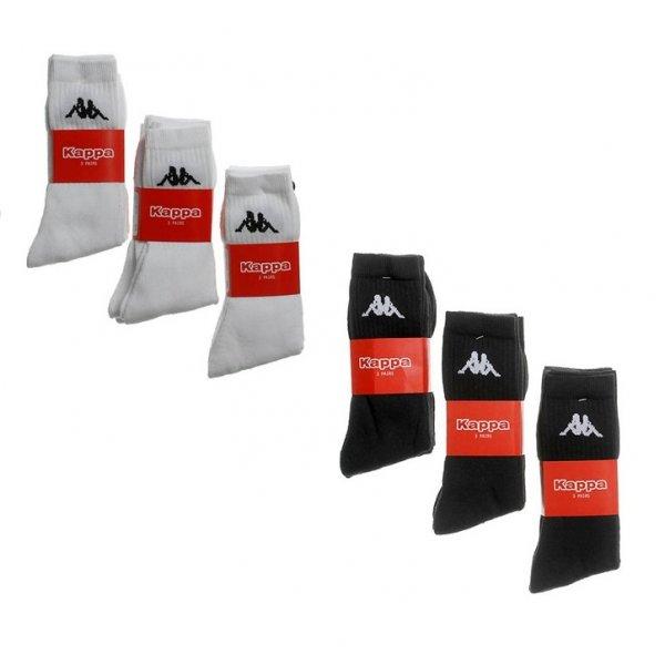KAPPA Socken 9 Paar in weiß oder schwarz - 8,88€ (inklusive Versandkosten)