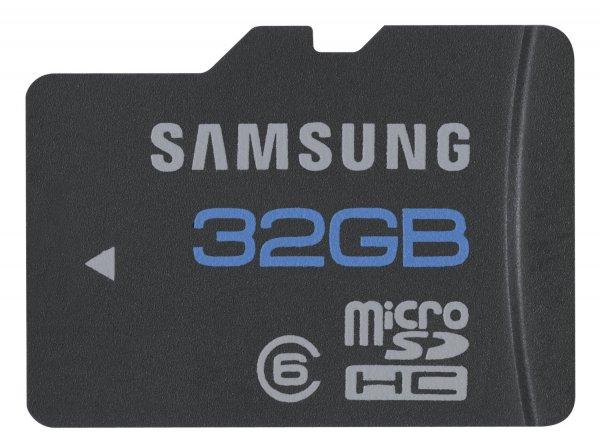 Samsung microSDHC 32 GB Class 6 Speicherkarte [17,00 € @ amazon]