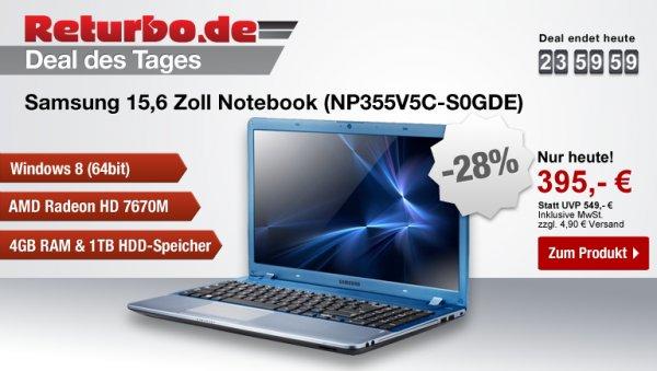 Samsung NP355V5C-S0GDE @Returbo.de (Deal des Tages)