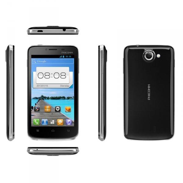 EINSTEIGER SMARTPHONE PHICOMM i 600 schwarz mit ANDROID 4.1