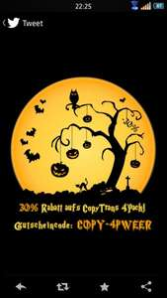 CopyTrans Rabatt für iPhone User Halloween spezial