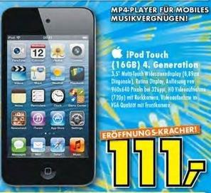 Apple iPod Touch 4G 16GB für 111€ (lokal, Ratingen)