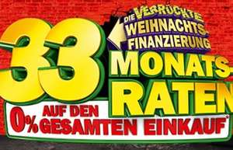 Media Markt Finanzierung 33 Monatsraten mit 0%