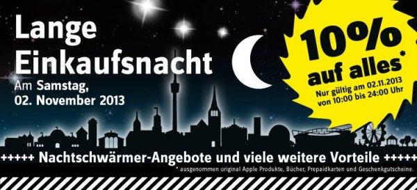 [Lokal Stuttgart] 10% auf alles bei Conrad am 2.11. Lange Einkaufsnacht