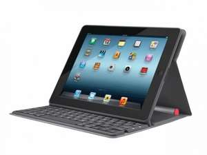 Logitech Bluetooth Solar QWERTZ Keyboard Cover für iPad 4