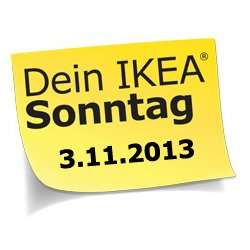 [Lokal] IKEA Hamburg Moorfleet - Angebote zum verkaufsoffenen Sonntag 3.11.2013