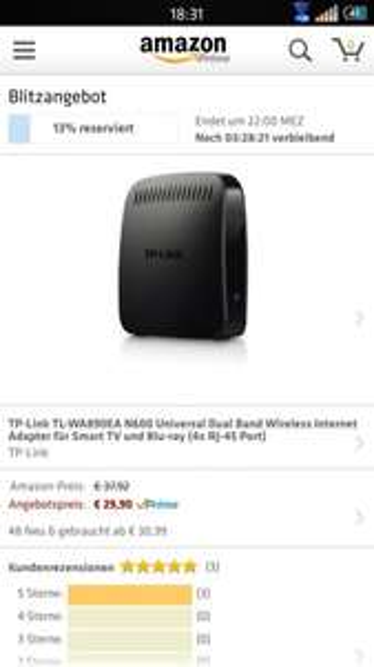 TP-Link TL-WA890EA N600 Universal Dual Band Wireless Internet Adapter für Smart TV und Blu-ray (4x RJ-45 Port) @Amazon