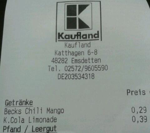 Kaufland Becks SixPack 0,29 € (+Pfand)