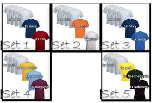 6 Fruit of the Loom T-Shirts für 13,99 € inkl. Versand bei WOW