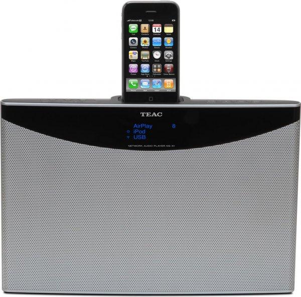 Teac NS-X1  Netzwerk-Player mit Dockingstation für Apple iPod/iPhone silber @ebay 89€