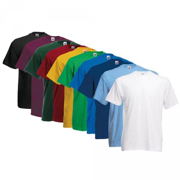 10x FRUIT OF THE LOOM Kinder und Erwachsenen T-Shirts viele Farben und Sets für 21,99 € also 2,19 pro Stück bei eBay WOW