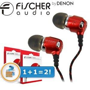 Fischer Audio Consonance In-Ear Kopfhörer im DOPPELPACK, super Ersparnis!