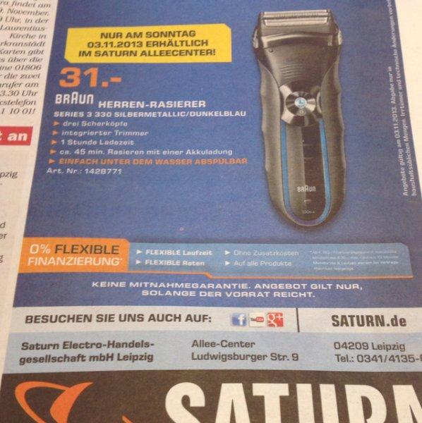 """Lokal """"Saturn Leipzig Allee-Center"""" Braun Series 3 Rasierer für 31€"""