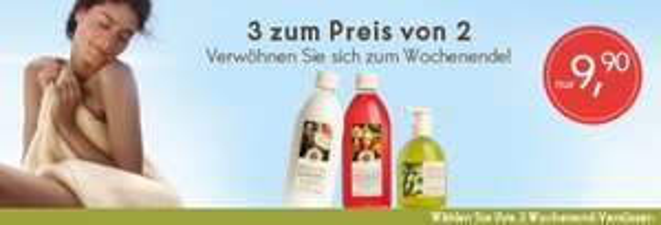 Yves Rocher: 3x Plaisir Duschgel je 400 ml + Geschenk + Ü-Geschenk + 2x Probe Reinigungsgel für 10,40 versandkostenfrei