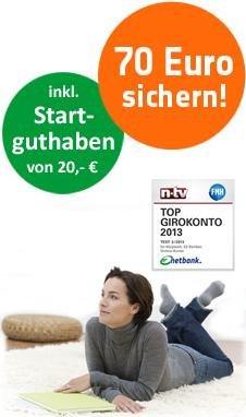 [Netbank] 20€ Startguthaben + 50€ Gehaltseingang + 45€ Qipu (dauerhaft kostenlos)