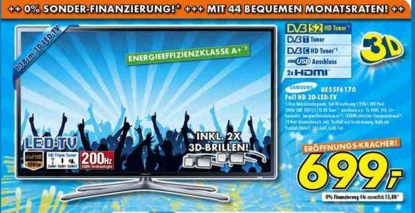 Samsung 55F6170 699,- Hammer Deal Neueröffnung Euronics Ratingen