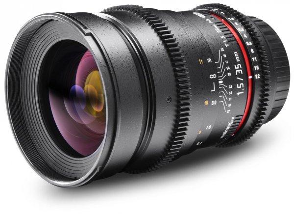 Walimex Pro 35 mm f/1,5 Foto- und Videoobjektiv (77 mm Filtergewinde) für Canon Objektivbajonett
