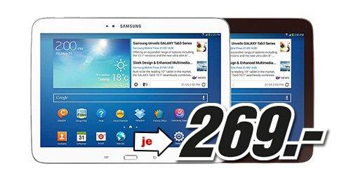Galaxy Tab 3 10.1 WiFi (P5210) - 16 GB - weiß und schwarz  - Samstag von 7-9 Uhr bei Mediamarkt Österreich