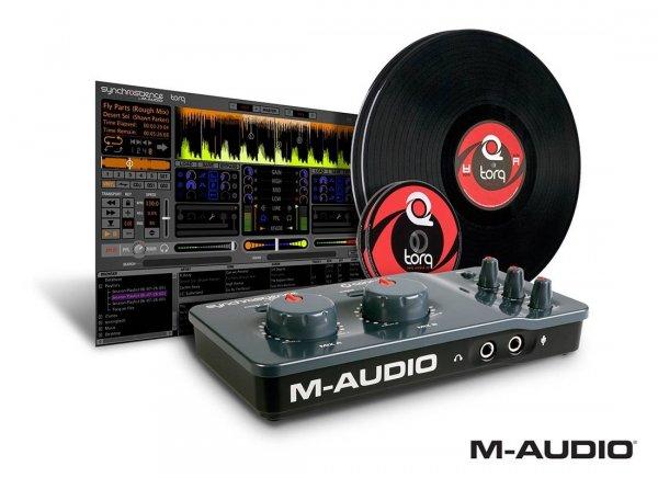 M-Audio Torq Conectiv 4 x 4 USB DJ Audio Scratch System Vinyl/CD Pack