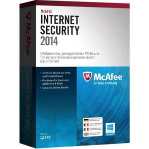 [Lokal/offline] McAfee Internet Security 2014 für 5€ in den Staples Filialen