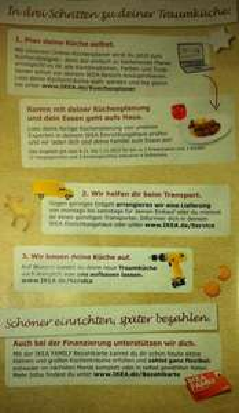 [4.11. - 7.12.13] Ikea Küche vorplanen und bis zu vier Essen und Softdrinks gratis