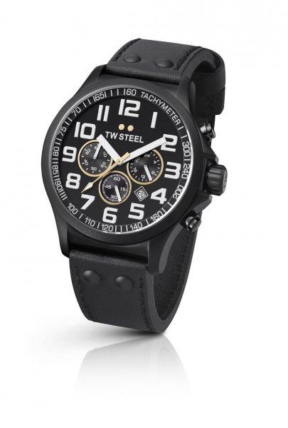 TW Steel Sonder-Edition Unisex-Armbanduhr Ceo Pilot Chronograph Leder TW-677 [Amazon]